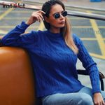 Jumper Knitted Pullover Round Neck  Casual Boho Sweater