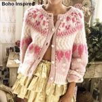 chunky cardigan  buttons supper cute cardigan Boho  sweaters