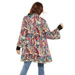 Ethnic Floral Print Long Sleeve Boho Jacket