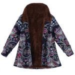 Fleece Fur Fashion Zipper Thin Warm Boho Coat