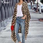 Long Cardigan Sexy Leopard Print Vintage Kimono