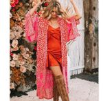 Fashion Loose Long Sleeve Print Cardigan Boho Kimono