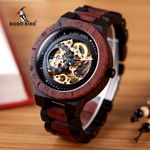 Luxury Timepieces  Mechanical Wooden Watch
