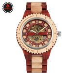 Mechanical Skeleton Automatic Creative Natural Wood Watch