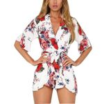 sashes fashion  Fashion print Casual Boho Romper