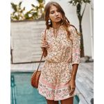 Printed Flower Casual Buttons Slim Bohemian Rompers