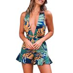 Casual  Floral Print Sexy Bohemian Rompers
