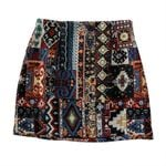 Wide Leg Vintage retro embroidery high waist Boho Skirts