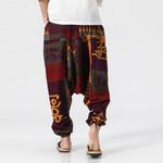 Causal Print Hippy Baggy Elastic  Aladdin Boho  Pant