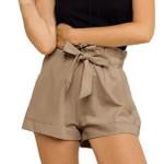 Belt  High Waist Casual High Waist Loose Bohemian Shorts