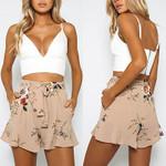 Fashion Bandage High Waist Casual Floral Boho Shorts