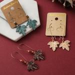 Ethnic Vintage Leaf Pendant Boho  Earring