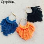 Bridesmaid Jewelry Ethnic Feather  Weave Boho Earring