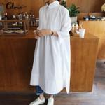 Dress Vintage Long Sleeve Loose Casual Dress