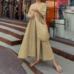 Cotton O Neck Long Robe Casual Sundress