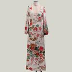 Tunic  Long Floral Print Boho Dress