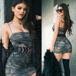 Strap Camouflage Sleeveless Casual Sexy Dress