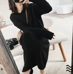 Warm  Pullovers Knitted Long Sleeve Casual Sweater Dress