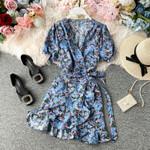 Casual Fashion Vintage Printing Dresses