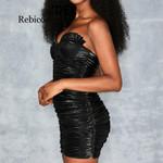 backless  Sleeveless Off shoulder black dress