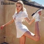 Casual Slim Retro  Buttons turn down collar White Dresses