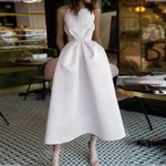Sexy Strapless  Off Shoulder Fashion Bandage White Dress