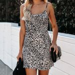 Casual Sexy Spaghetti Strap Mini Leopard Dress