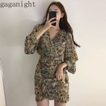 Chiffon  Fashion Sexy Leopard Dress