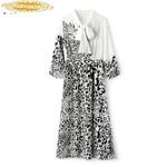 Fashion Leopard  Elegant Vintage Dress