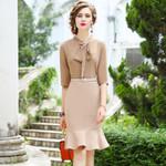 Bow  elegant Vintage Party Dress
