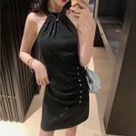 Halter Fashion Sleeveless Party Dress