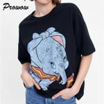 Dumbo Printed  Fashion  Short Sleeve   T Shirt