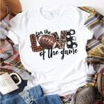 Love Print Round Neck Short Sleeved  T-Shirt