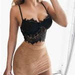 Sexy crop Floral Lace Bustier fashion tank top