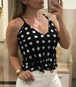 fashion sleeveless polka dot sexy top camis