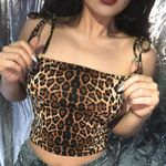 Cropped Bandage Fashion Sexy Leopard  Camis