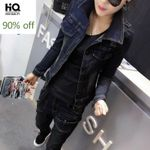 Casual Long Sleeve Single Breasted  Slim Fit Denim Jackets