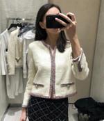 O Neck  Long Sleeve Short  Elegant Short Jacket