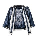 Student Both Sides  Silk Satin Baseball Jackets