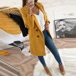 Long Sleeve Loose Turn-Down Collar  Woolen Coat