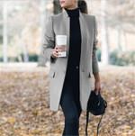 Warm Elegant Vintage  Long Wool Coat