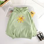 Padded Loose Casual Pullovers Loose Casual hoodies