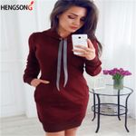 Tie Collar Hooded Casual  Loose Long Pullovers Hoodies
