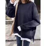 Pullovers  Long Sleeve Loose Pullover Sweatshirt