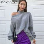 Knit Off Shoulder Pullovers Sweater