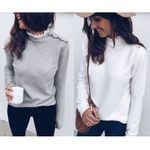 Casual Lace Patchwork Ruffles O Neck Pullover Sweater