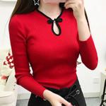 Vintage Long Sleeve Sweater Pullover Elegant Turtleneck Sweater