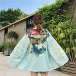 Carp Printed  Cardigan Japanese Kimono