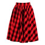 High Waist Cotton  Flannel Vintage  Midi Skirt