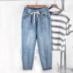 Harem Loose  Elastic  High Waist Vintage Jeans